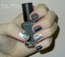 Full Metal Alchemist Nails by RoxysSlushPuppie
