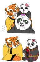 Tigress, Lei Lei and Po by AniDragmire