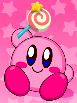 Kirby Have Lollipop (Invincibility Candy) by cuddlesnam
