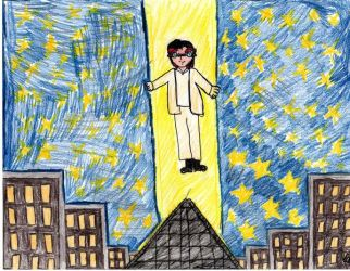 Criss levaiting above theLuxor by Criss-Angel-Fans