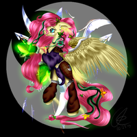 Fluttershy, World of Ponycraft by Crazyaniknowit