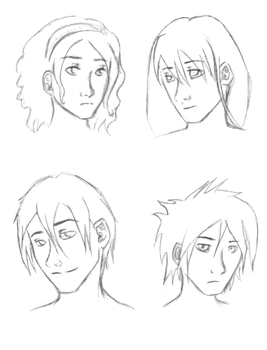 Four characters by Amarantis