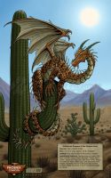 Spiny Desert Drake - PHXCC 2012 Exclusive Print by Nightlyre