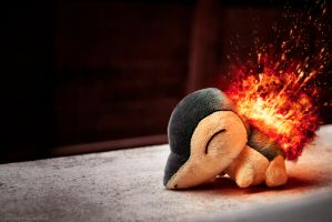 Stuffed Cyndaquil by Mtoneko
