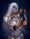 Dark Elf( redraw) by DrearyBurn