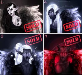 ADOPTS 30 eur [closed] : Starlight angels by Meet-our-Maker