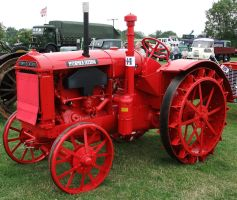Bright Red Tractor 1 by fuguestock