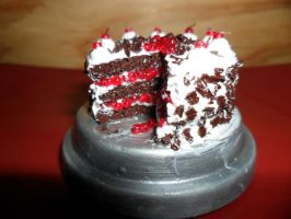 Black Forest Cake Closeup by kayanah
