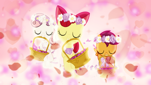 Flower Fillies Wallpaper by SailorTrekkie92