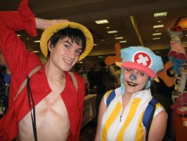 Monkey D. Luffy and Chopper by cat55