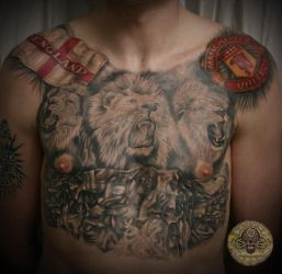3 tribute Manchaster United by 2Face-Tattoo