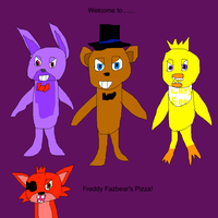 Five Nights at Freddys- The original 4 by SuperSmashCynderLum