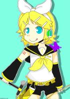 Kagamine Rin - Poster by TangolaDude
