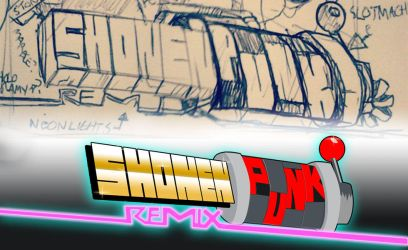 Shonen Punk! remix logo process by andehpinkard