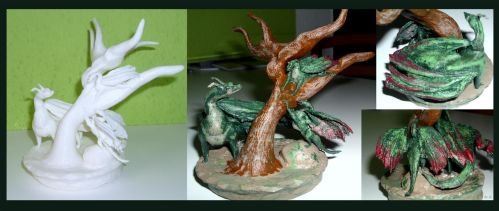 The 3D Printer Dragonfamily by Aarok