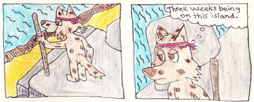 Island Dog Comic by Siluntwolf