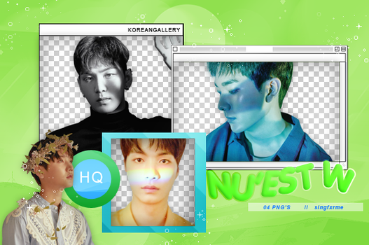 NU'EST W | PACK PNG by KoreanGallery