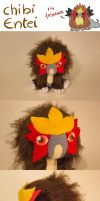 Chibi Entei Plush by Luminous-Luchador