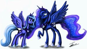 Double Luna by EuropaMaxima