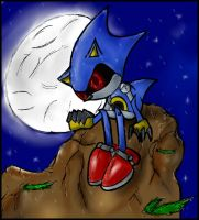 Metal Sonic: Alone in the Rain by xKnucklesx