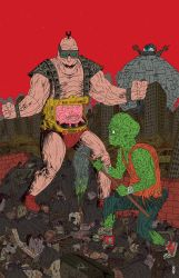 Krang Vs Toxic Avenger by burnay