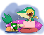 snivy free time by hoyeechun