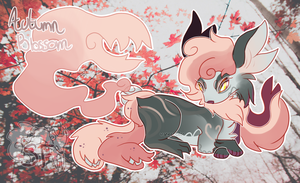 Autumn Blossom SoulFox - Auction (Closed) by watercoIor