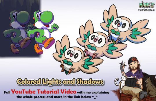 Colored Lights and Shadows - Mink's Tutorials (YT) by Minks-Art