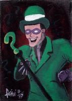 THE RIDDLER SPEED DRAWING +VID by IDROIDMONKEY