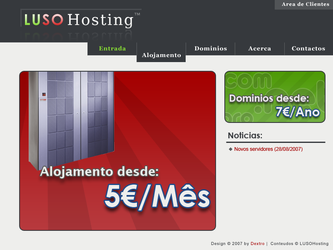 LusoHosting - Home by d3x7r0