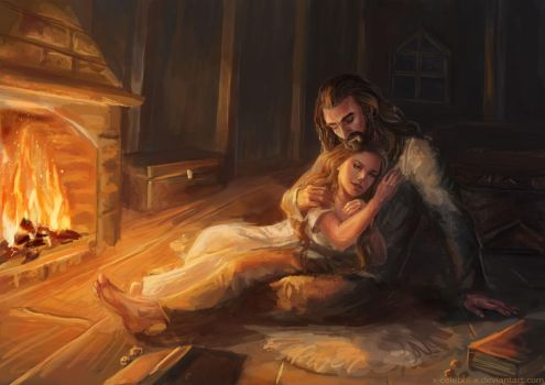 Thorin and Laurelin Commission by x-Celebril-x