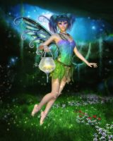 Faerie Glimmers in the Night by RavenMoonDesigns