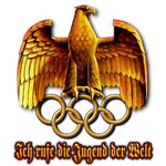 Reich Adler and Olympic Rings - Berlin Olympics by PeterCrawford
