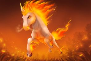Rapidash by ArtKitt-Creations