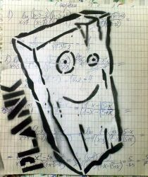look plank you're on DA by StencilAddict