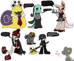 Undertale Oc's in Underfell AU by PeachyRoo