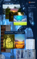 43 pack - Backgrounds by Precia-T