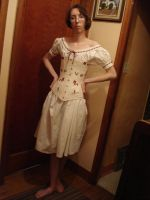 Victorian Chemise and Corset by Carrieliney
