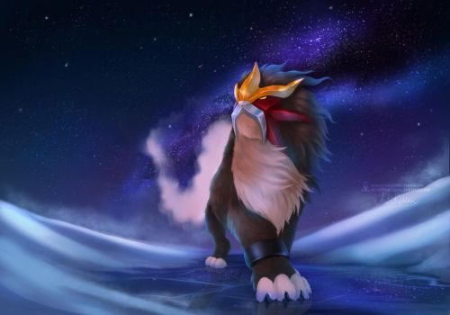 Entei by ArtKitt-Creations