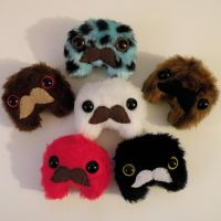 Mustached Lumps by loveandasandwich