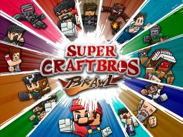 Super Craft Bros: BRAWL 2 - (ft. Youtubers) by FinsGraphics