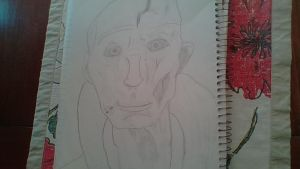 My drawing of Supreme Leader Snoke by Dracorider19