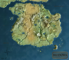 Map of Mudora: Atlas Version by TheWhiteMaiden