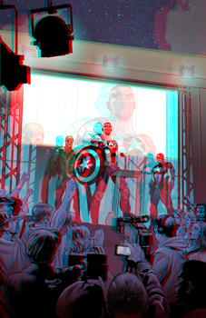 Sam Wilson : Captain America in 3D Anaglyph by xmancyclops
