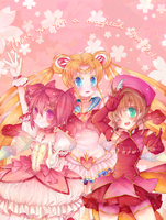 Magical Girls, Then and Now by minnoux