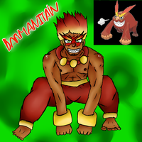 Darmanitan (Gijinka) by Meloewe