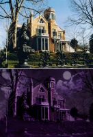 Eerie Castle, Before and After by AtlantaJones