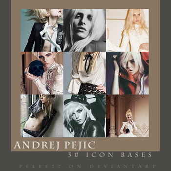 Andrej Pejic icon bases by pflee77