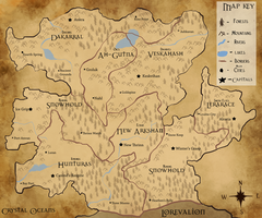 Map of Ekehar by SpookyBjorn