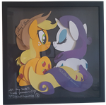 Rarity and Applejack (Rarijack) Shadow Box SIGNED by Magpie-pony